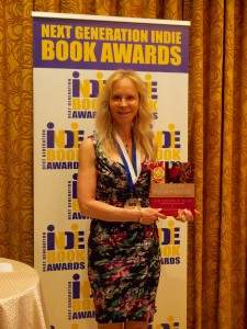 Layne Lieberman Receives IndieBook Award at the Harvard Club, May 27, 2015